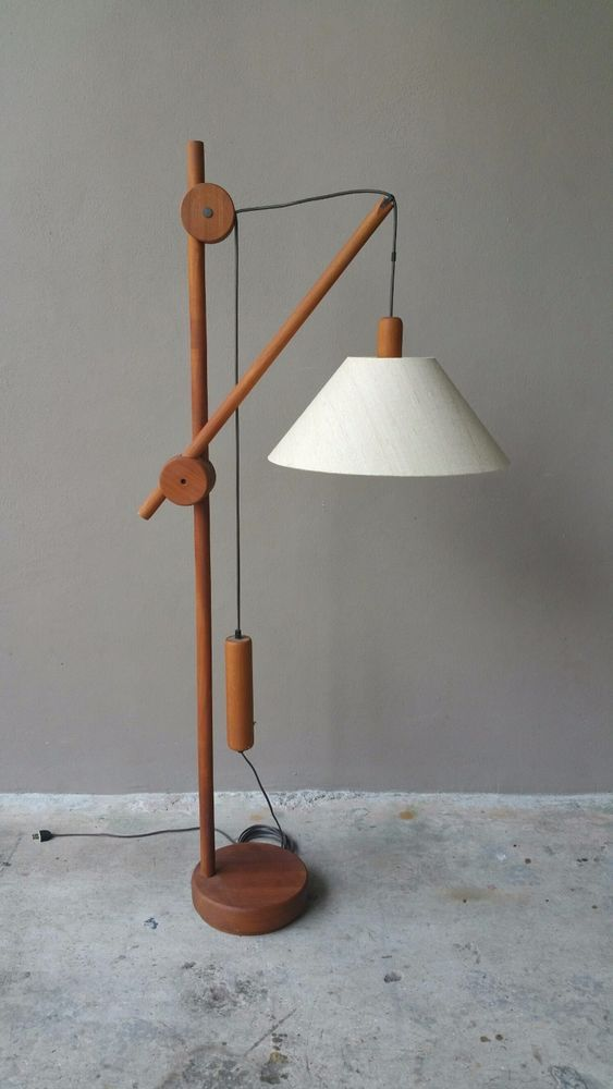 Details About Vintage Mid Century Modern Danish Floor Lamp