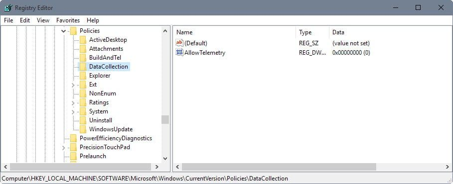 How To Disable Microsoft Compatibility Telemetry Data Sharing