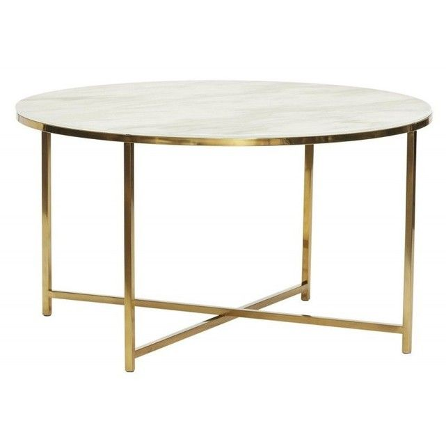 Table Métal Marbre TailleTaille Basse Ronde Verre Effet 2eEDHW9IY