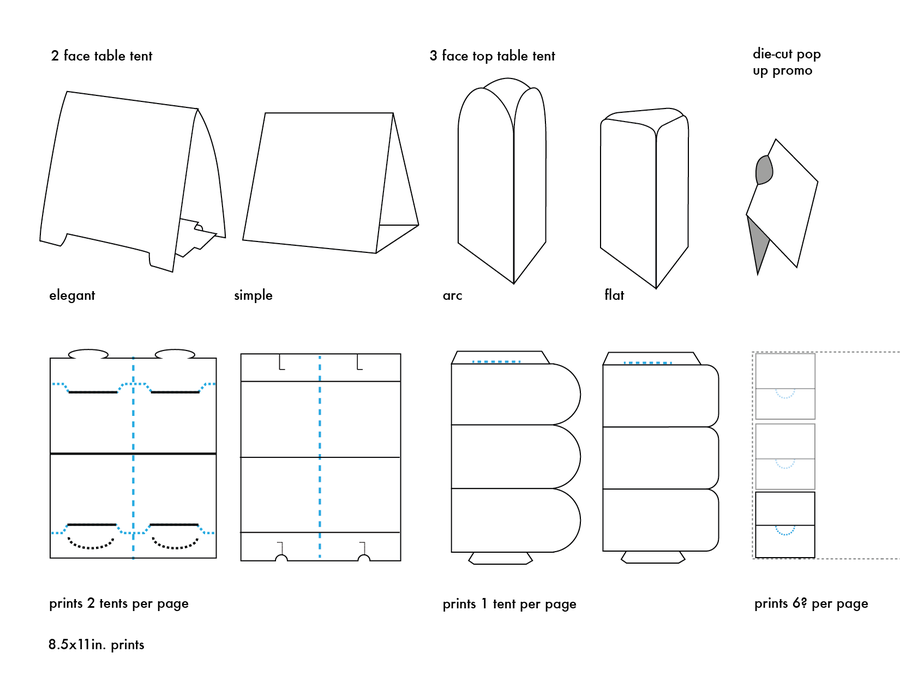 Table Tents Template Types By Carrensoriano Deviantart On
