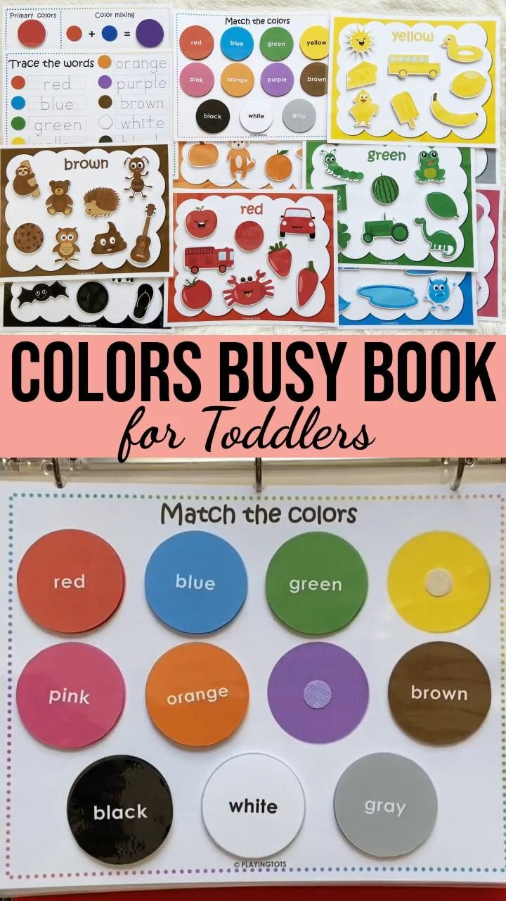 Colors Busy Book for Toddlers | Learning Binder