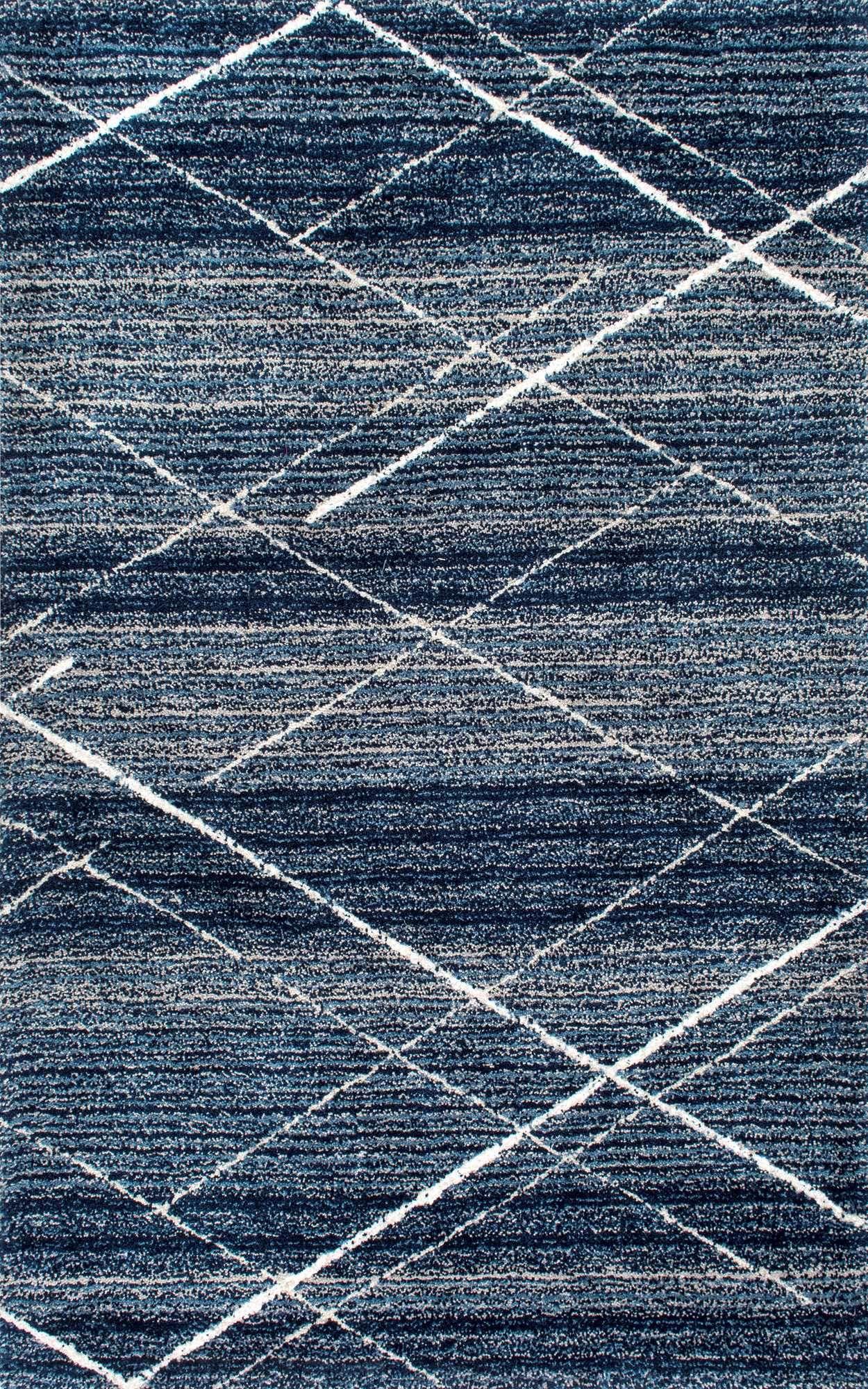 Snowpeak Diamond Trellis Shag Blue Rug Textured Carpet Blue Rug Blue Area Rugs