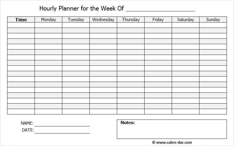 Blank Weekly Schedule Printable Free Format Weekly Calendar - weekly schedule printable with times