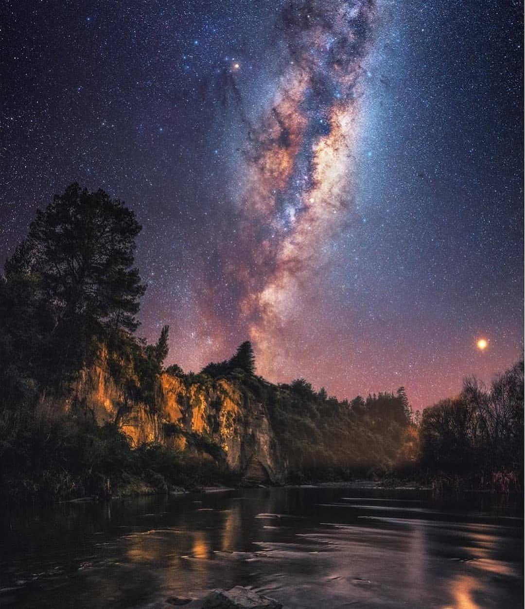 Muharip Gazi Night Landscape Night Skies Milky Way