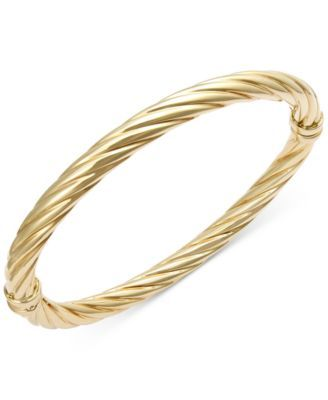 Twist Hinge Bangle Bracelet In 14k Gold 499 00 Gleam All Day Long With The Addition Of This Polished Crafted A Unique