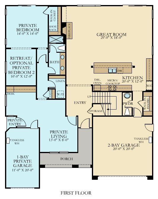 Mother In Law Suite House Plans Addition In Law Apartment Ideas: 4122 Next Gen By Lennar New Home Plan In Harvest Villages II