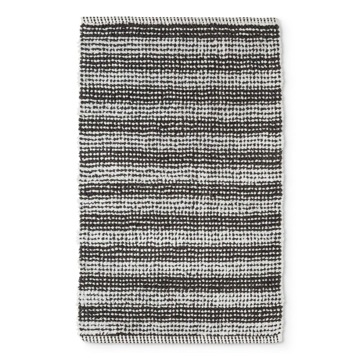32 X20 Woven Stripe Bath Rug Gray White Project 62 Image 1
