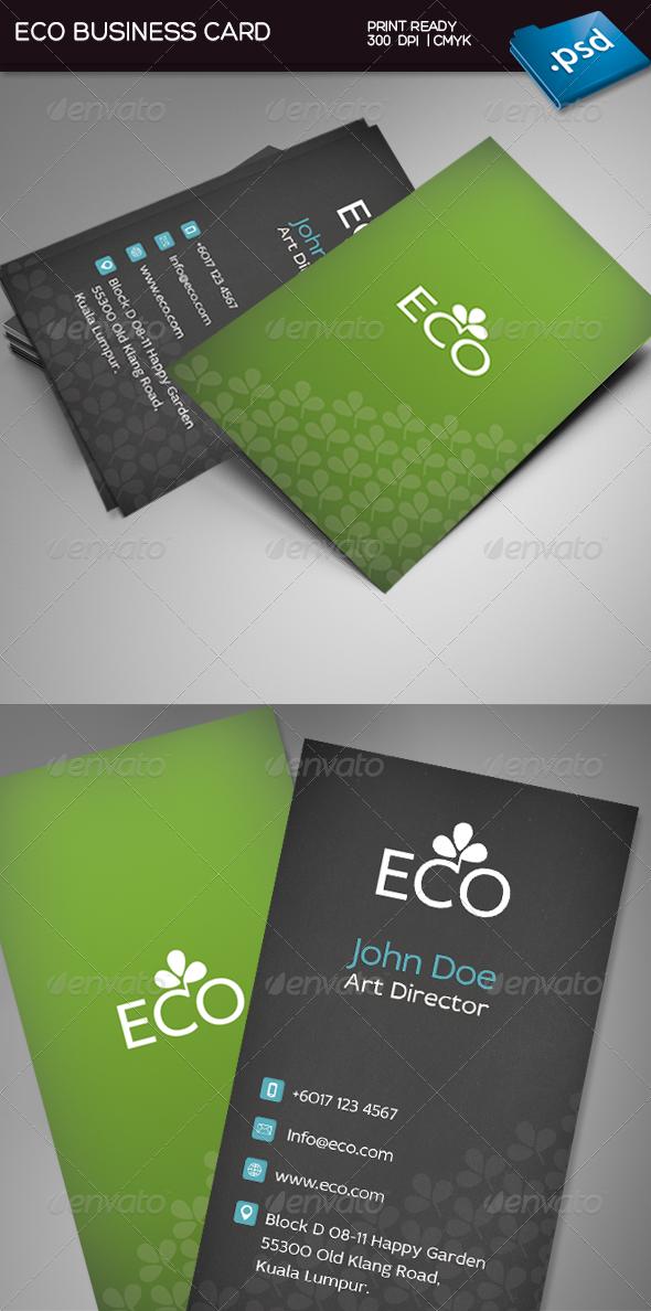 Eco Business Card Business Cards Business Card Design Cards