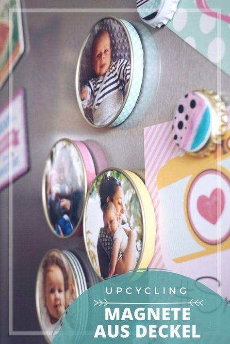 Upcycling: Magnete aus Deckel und Kronkorken mit Washi Tape – minafohemia.de