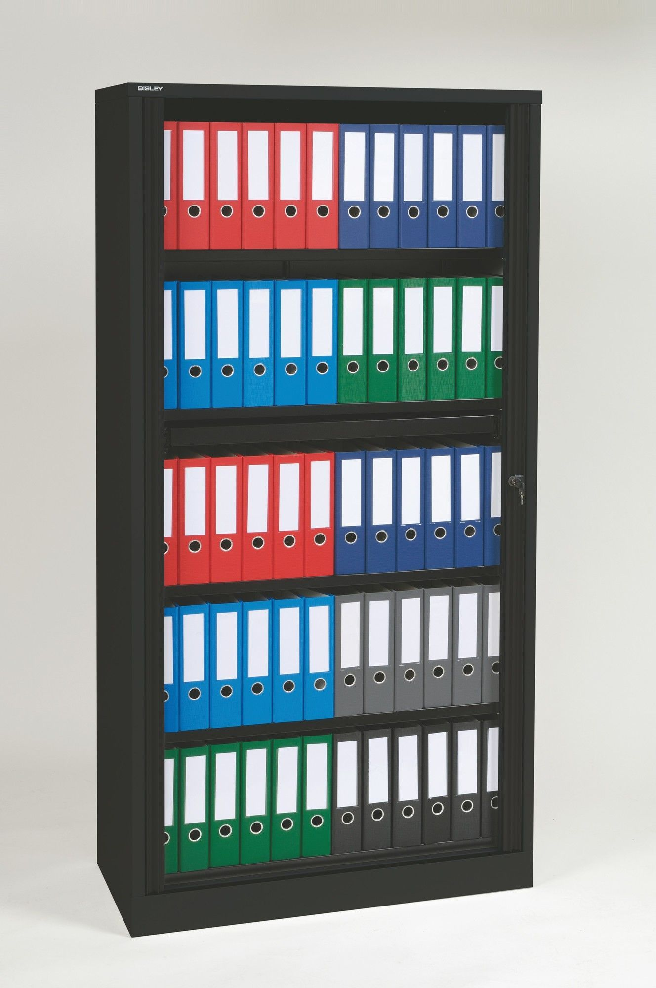 Premium Binder Storage 4 Shelf Tambour Cabinet