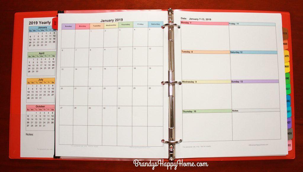 Free 2019 Diy Calendar Planner Printables Diy Calendar