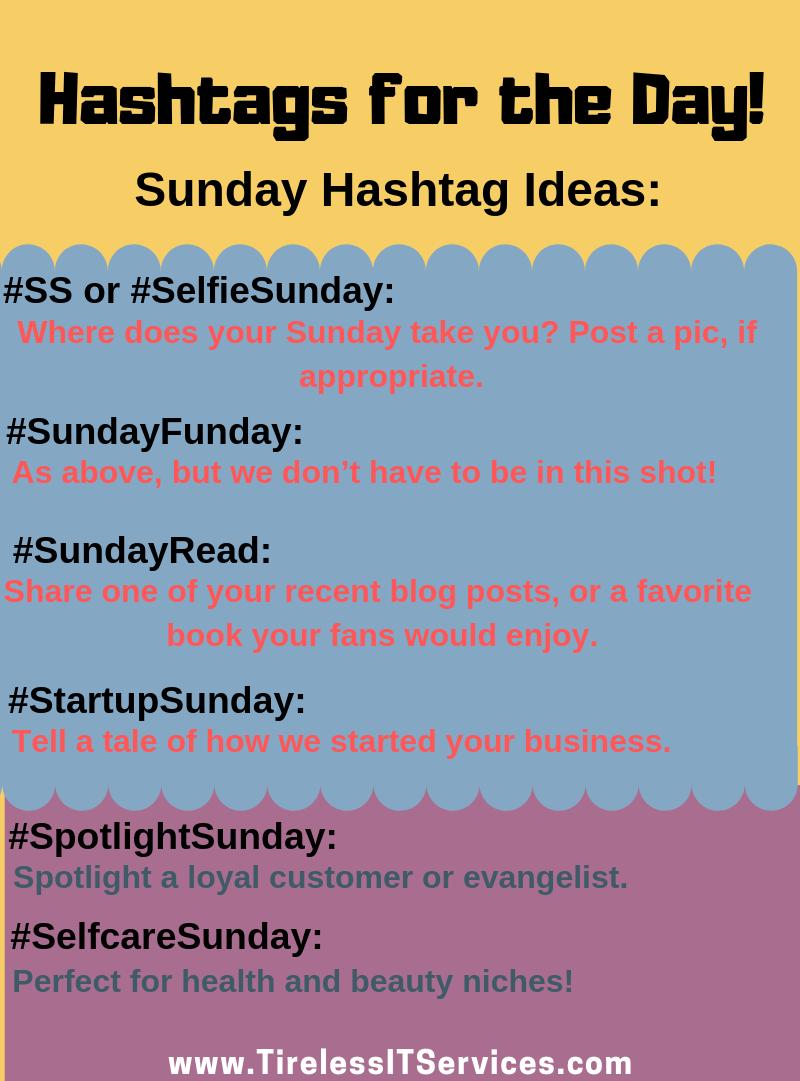 Hashtags For The Day Business Hashtags Hashtag Ideas Marketing Strategy Social Media