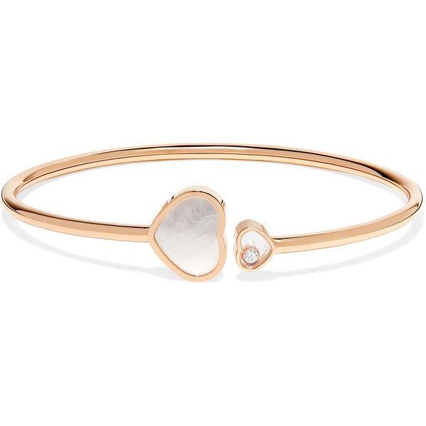 Chopard Happy Hearts 18-karat Rose Gold Diamond Cuff 34Lno