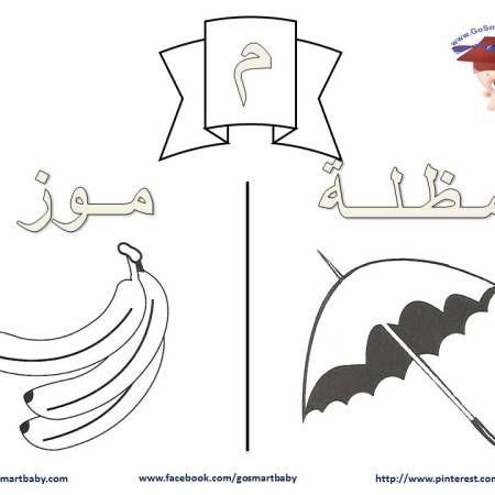 تلوين الحروف العربية حرف الميم م Arabic Alphabet Lettering Alphabet Arabic Language