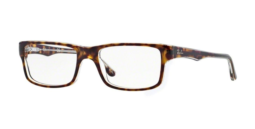 2788c43201f0f Ray-Ban RX5245-5082 Top Havana on Transparent Eyeglasses   RAY-BAN ...