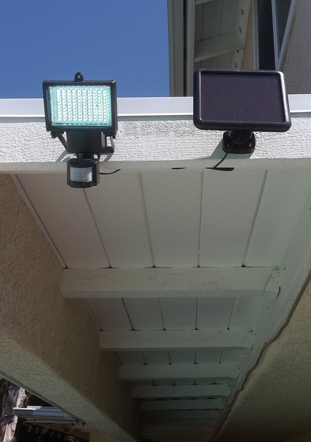 This solar security light is easy to install and has 100 bright leds this solar security light is easy to install and has 100 bright leds aloadofball Choice Image