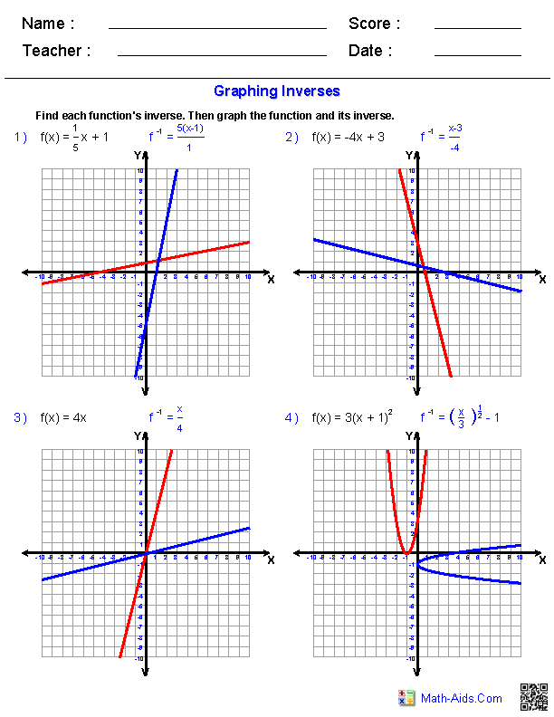 General Functions Worksheets Algebra 2 Worksheets – Graphing Exponential Functions Worksheet Algebra 1