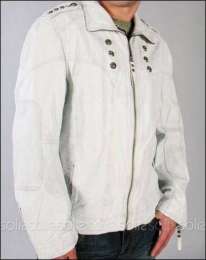 White Leather Jacket Men | leather_jackets | Pinterest | White ...