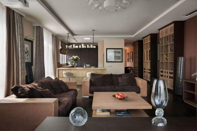 Wohnzimmer Und Küche In Einem Raum 25 Moderne Gestaltungsideen