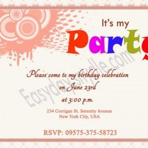 Birthday Quotes Invitation Cards 4 304x303