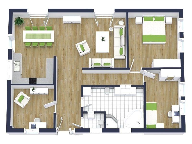3d floor plans in 2019 home design ideas floor plans - Online floor plan designer ...