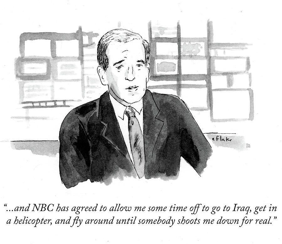 Drawing - Nbc Has Agreed To Allow Me Some Time Off To Go by Emily Flake #affiliate , #affiliate, #ad, #Agreed, #Flake, #Emily, #Nbc