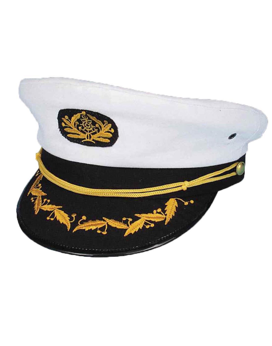 0b8ee815b1fa7 $7.74 - Adult White Captains Hat Yacht Captain Male Female Sailors Costume  Hat #ebay #Fashion