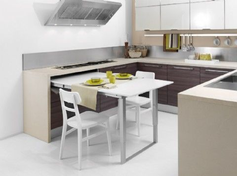 Sketch Of Space Saving Kitchen Island With Pull Out Table Small Kitchen Tables Freestanding Kitchen Space Saving Kitchen Table