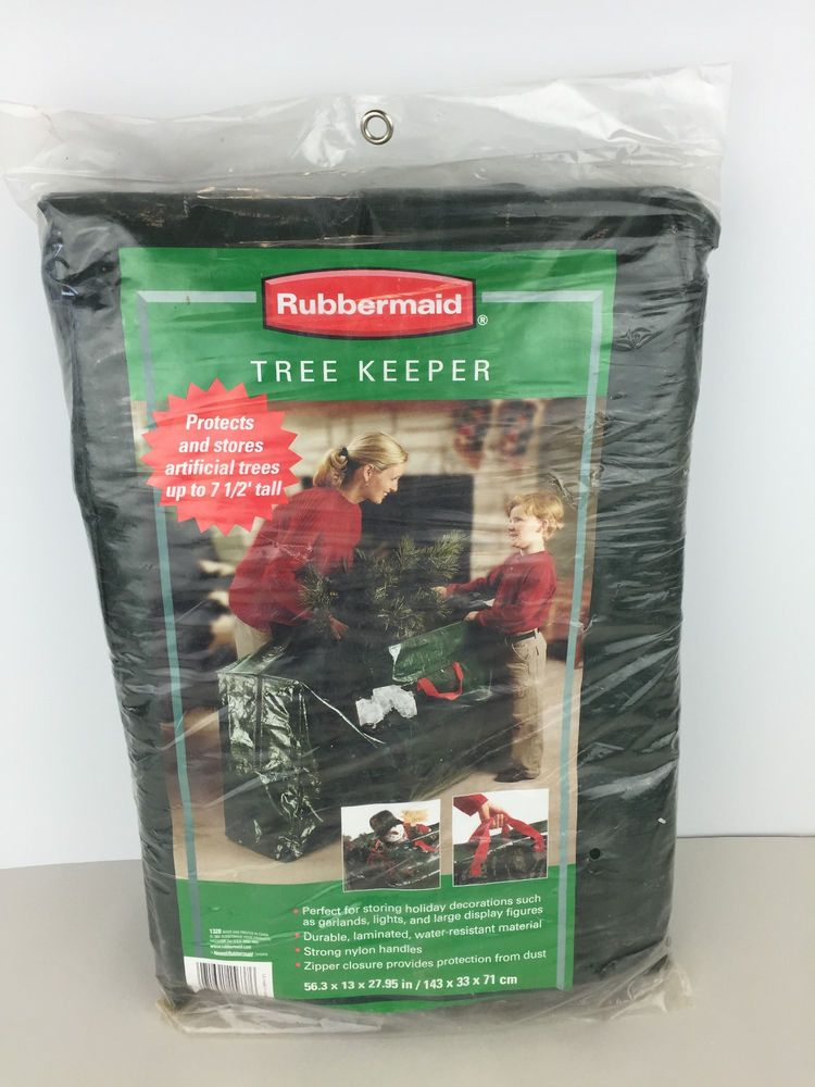 Rubbermaid Tree Keeper Storage For 7 1 2 Ft Tall Tree Or Other Christmas Decor Rubbermaid Christmas Decorations Rubbermaid Christmas