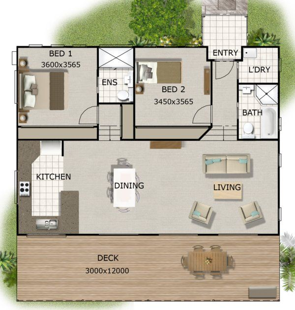 2 Bedroom Split Level House Plan 141kr 2 Bedroom Design Plus Many More 2 Bedroom House Plans House Plans Bedroom House Plans Cottage Plan