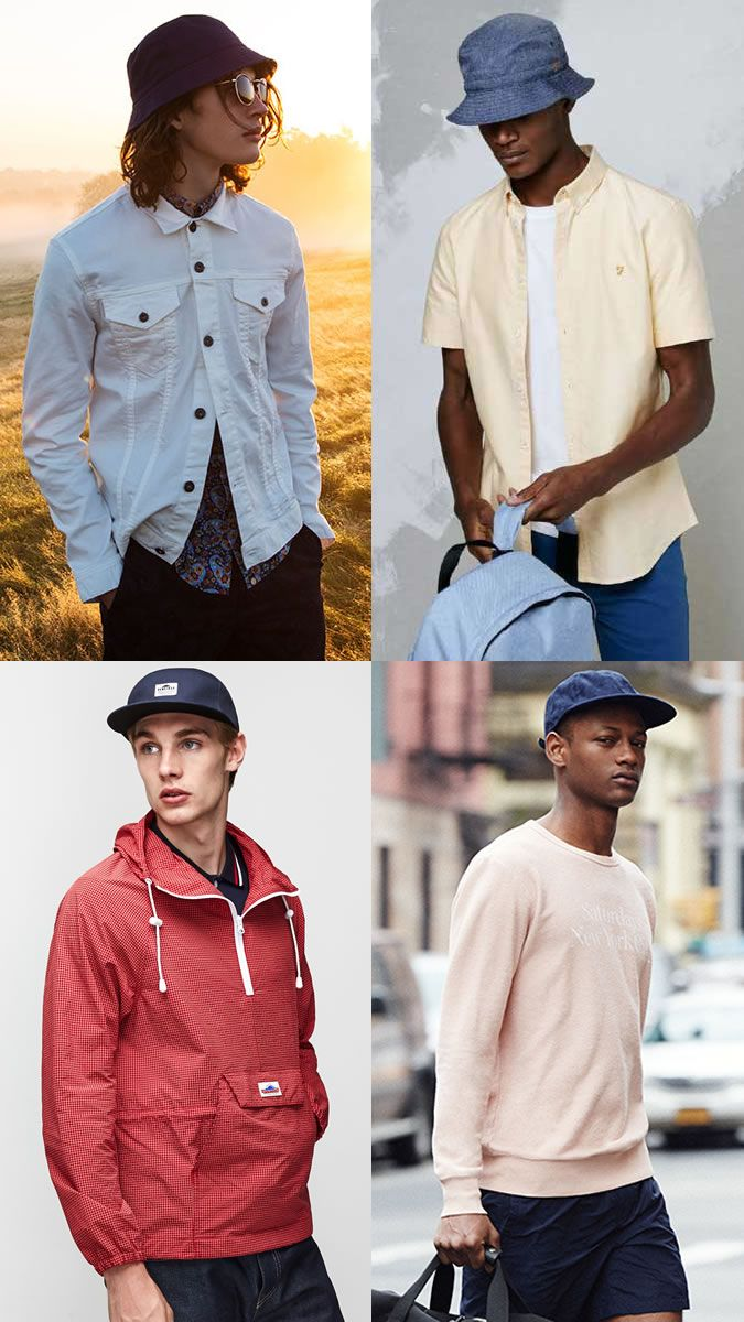 Men S Baseball Cap Bucket Hat For Summer Festival Outfit Inspiration Lookbook Outfits With Hats Summer Festival Outfit Outfits Boys