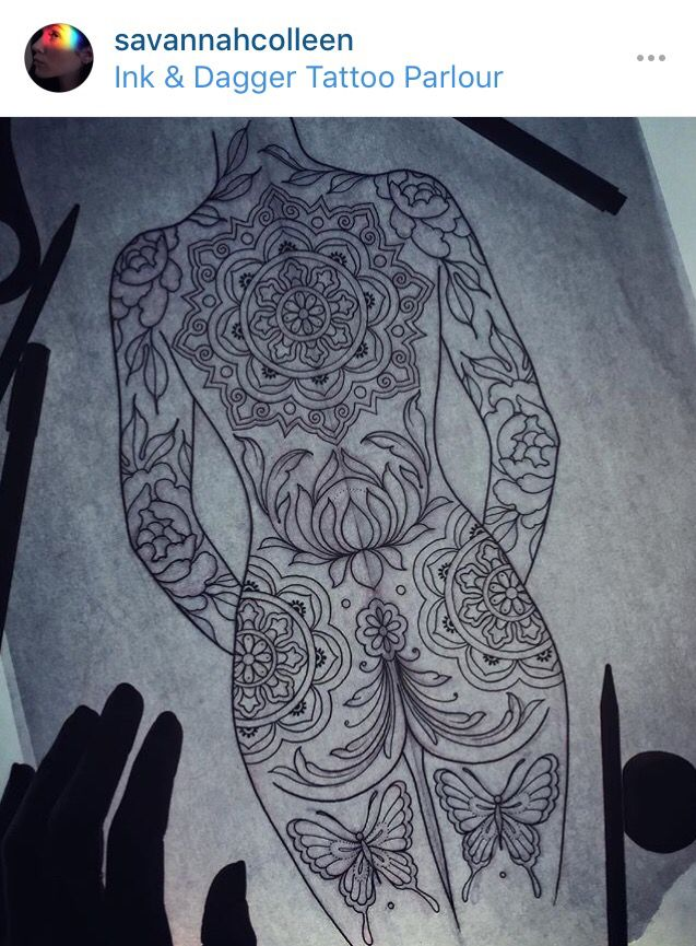 Mandala Back Piece Design By Savannah Colleen At Ink Dagger