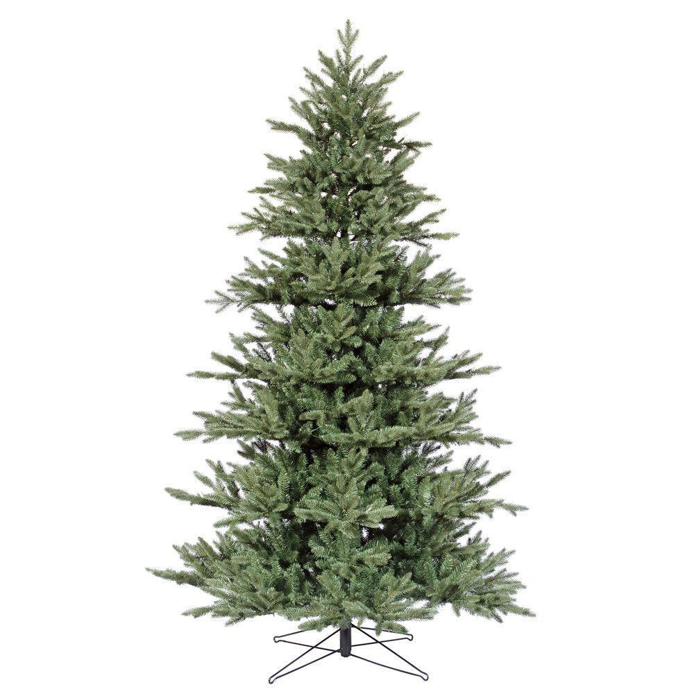Vickerman 12Ft. Blue-Green 6666 Tips Christmas Tree | Blue green ...