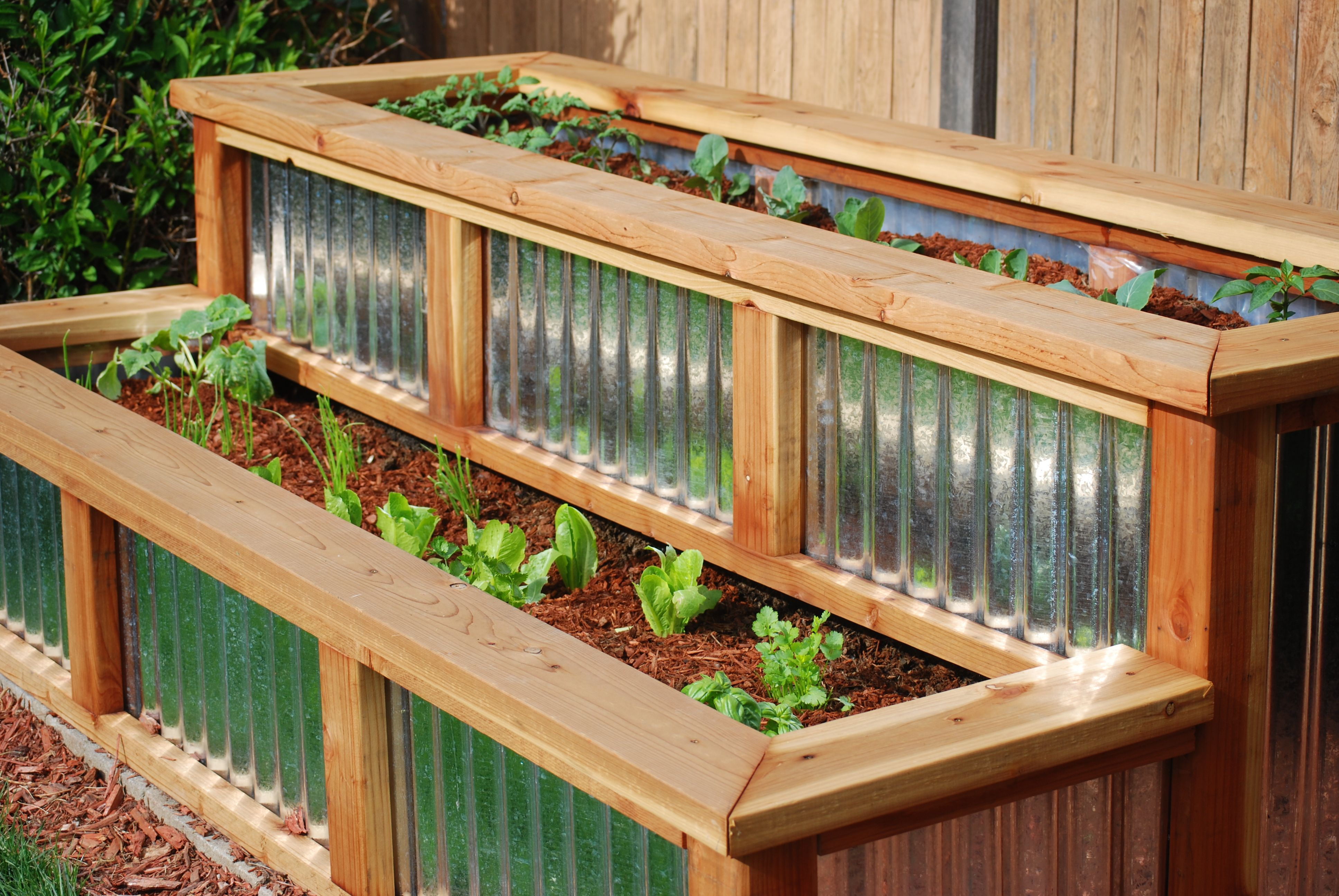 Metal Planter Boxes Redwood And Corrugated Metal Planter Box For My Daughter