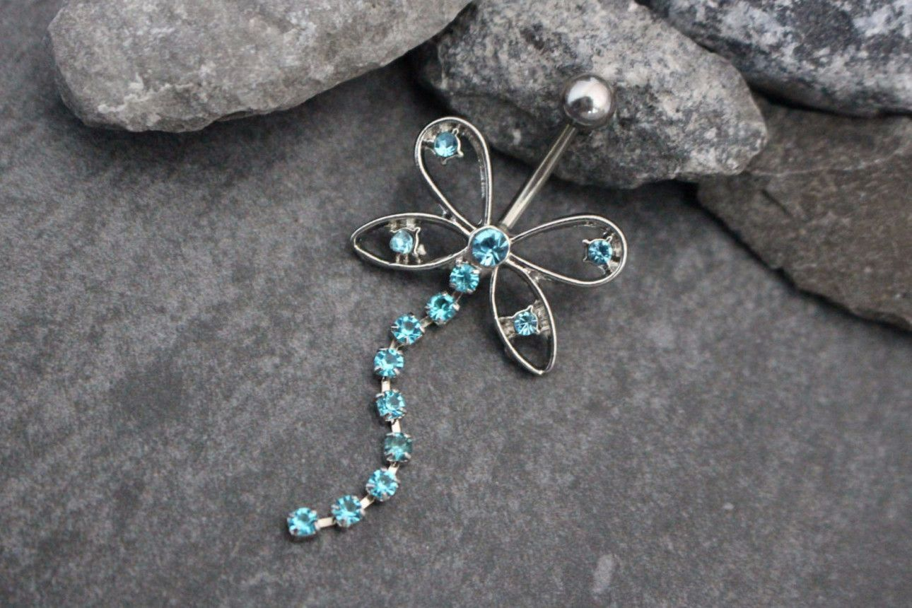asena butterfly belly ring belly button rings
