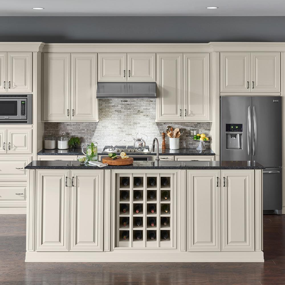 American Woodmark Custom Kitchen Cabinets Shown In Classic Style Hdinstbl The Home Depot In 2020 Custom Kitchen Cabinets Kitchen Cabinets Custom Kitchen