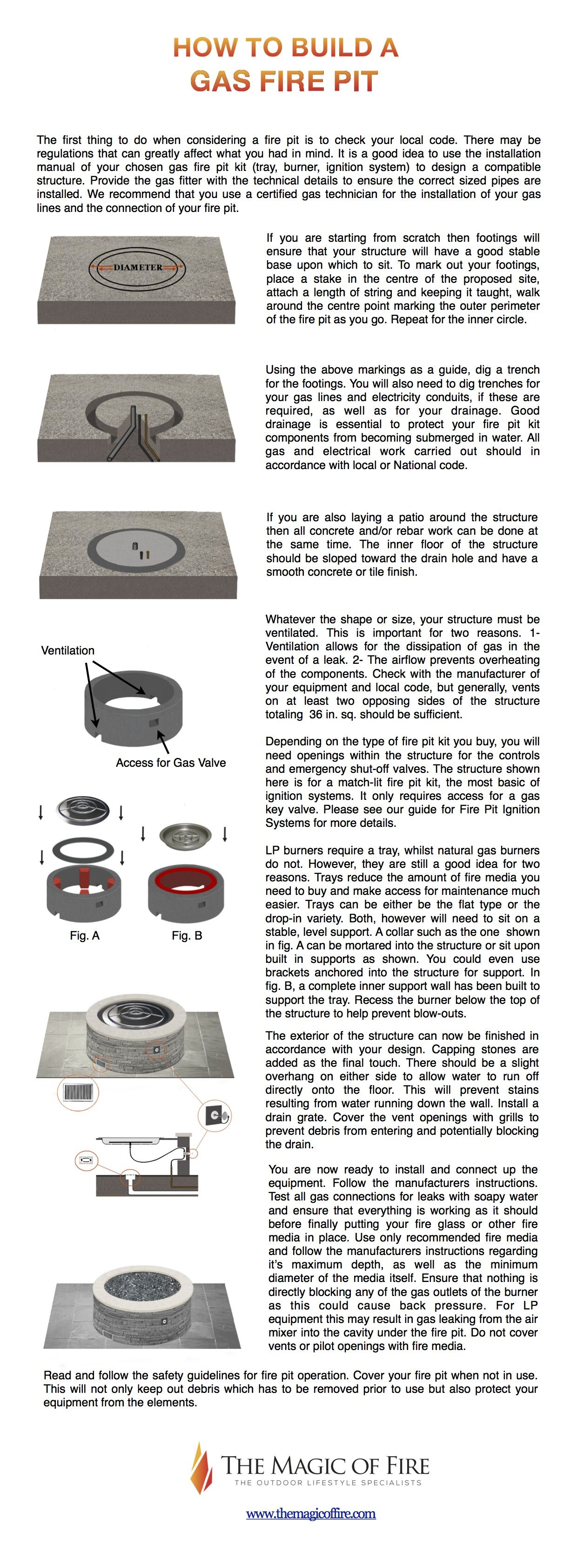 how to build a gas fire pit diy gas fire pit gas fire pits and