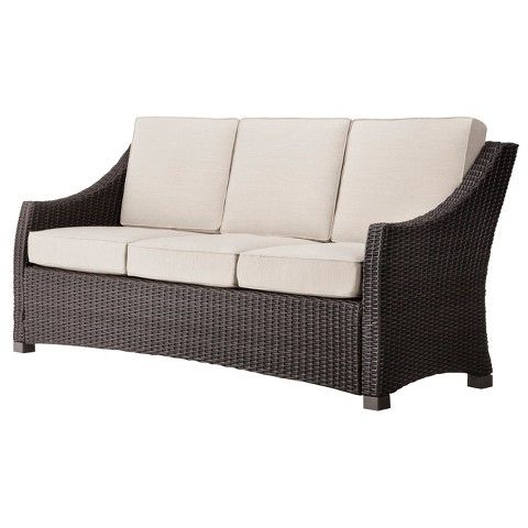 Threshold™ Belvedere Wicker Patio 3 Person Sofa