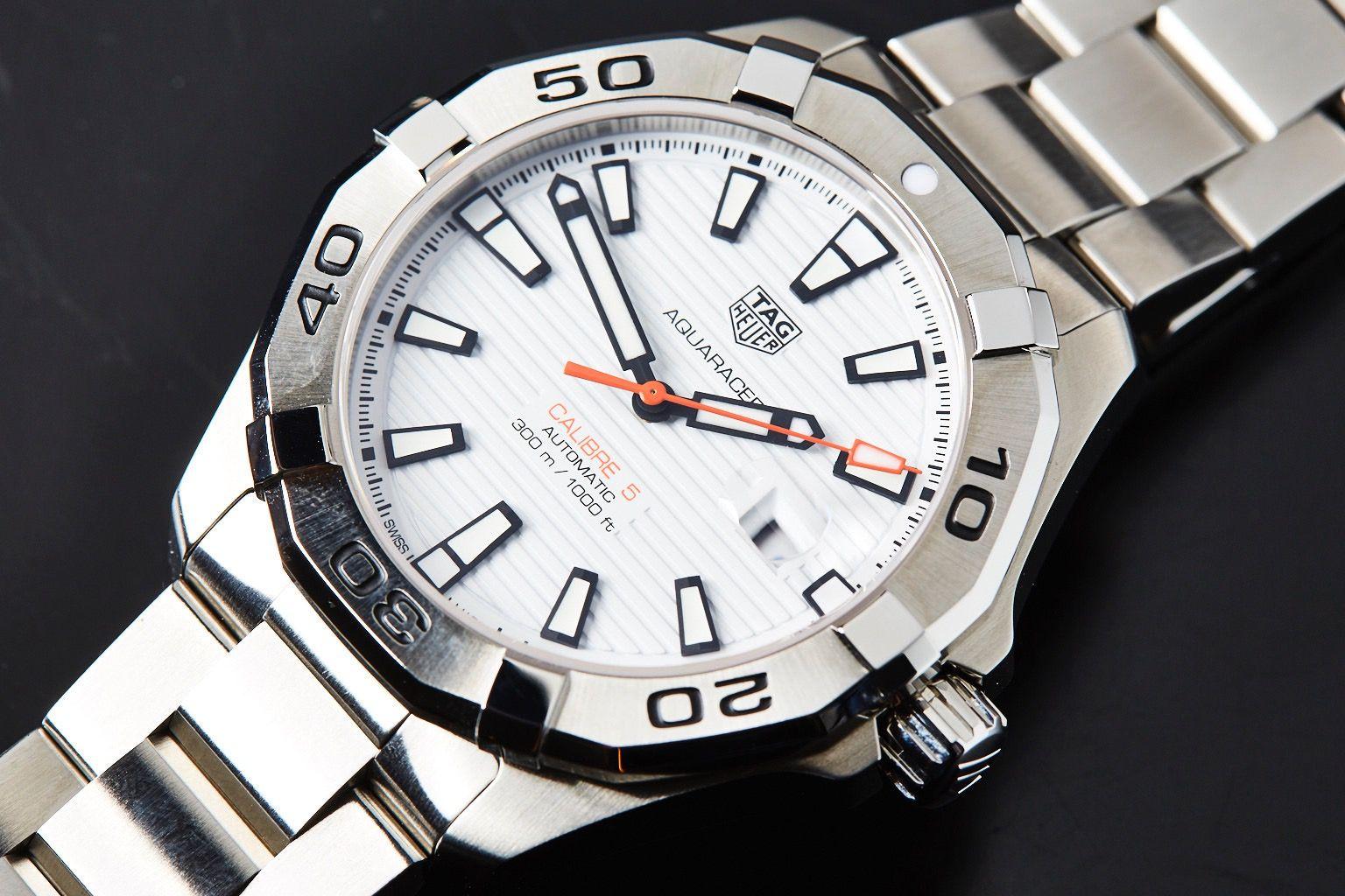ea0aa93ea80 TAG Heuer Aquaracer 300m Calibre 5 White Dial WAY2013