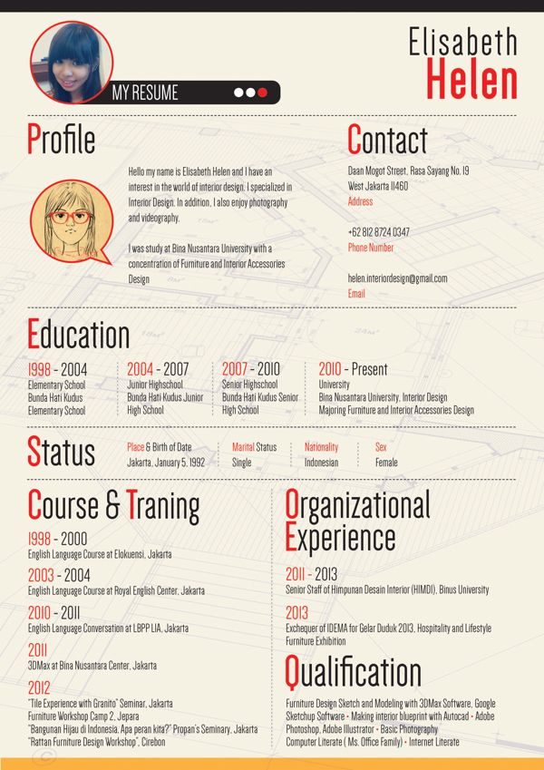 Interior Designer Resume on Behance | Resume | Pinterest | Behance ...