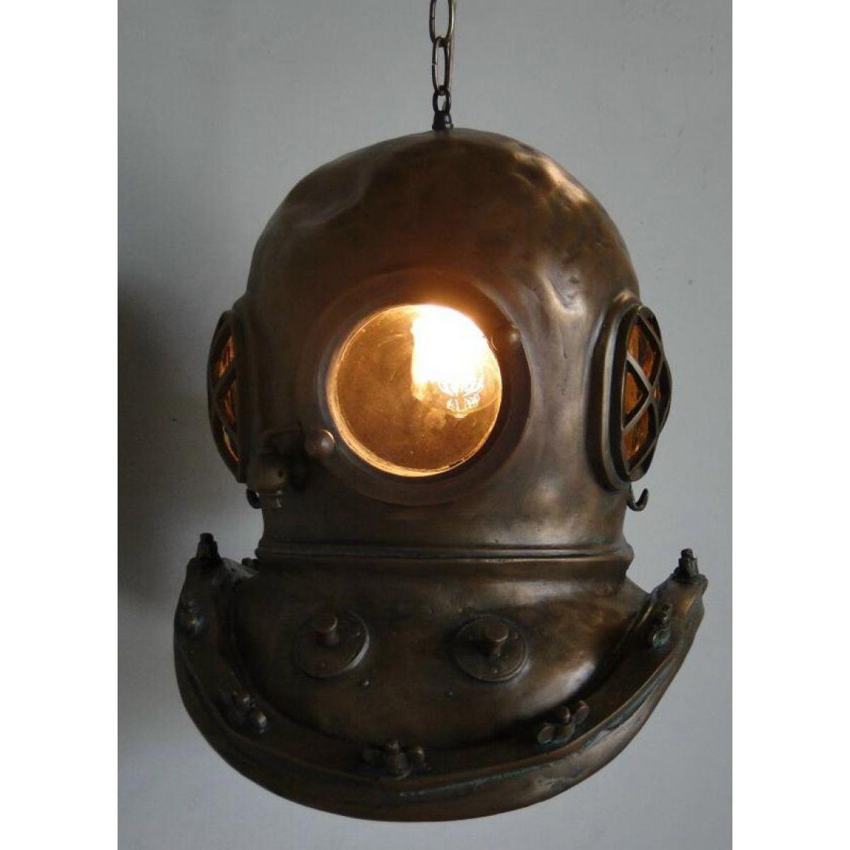 Steampunk Bioshock infinite Bronze MARK V DIVERS HELMET CHANDELIER old stye Light