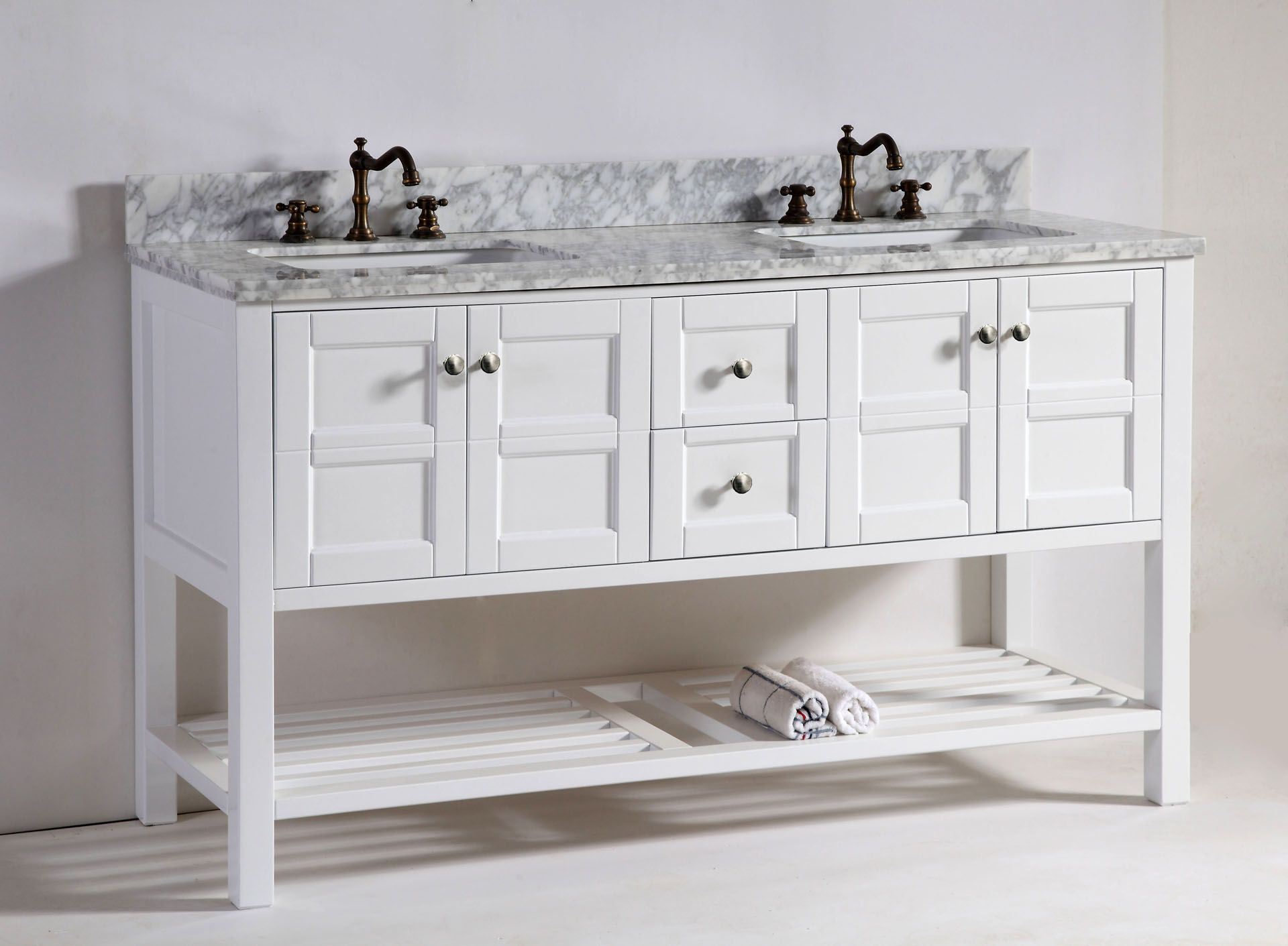 Our Brand New 60quot Leo Double Sink Vanity In White One Of