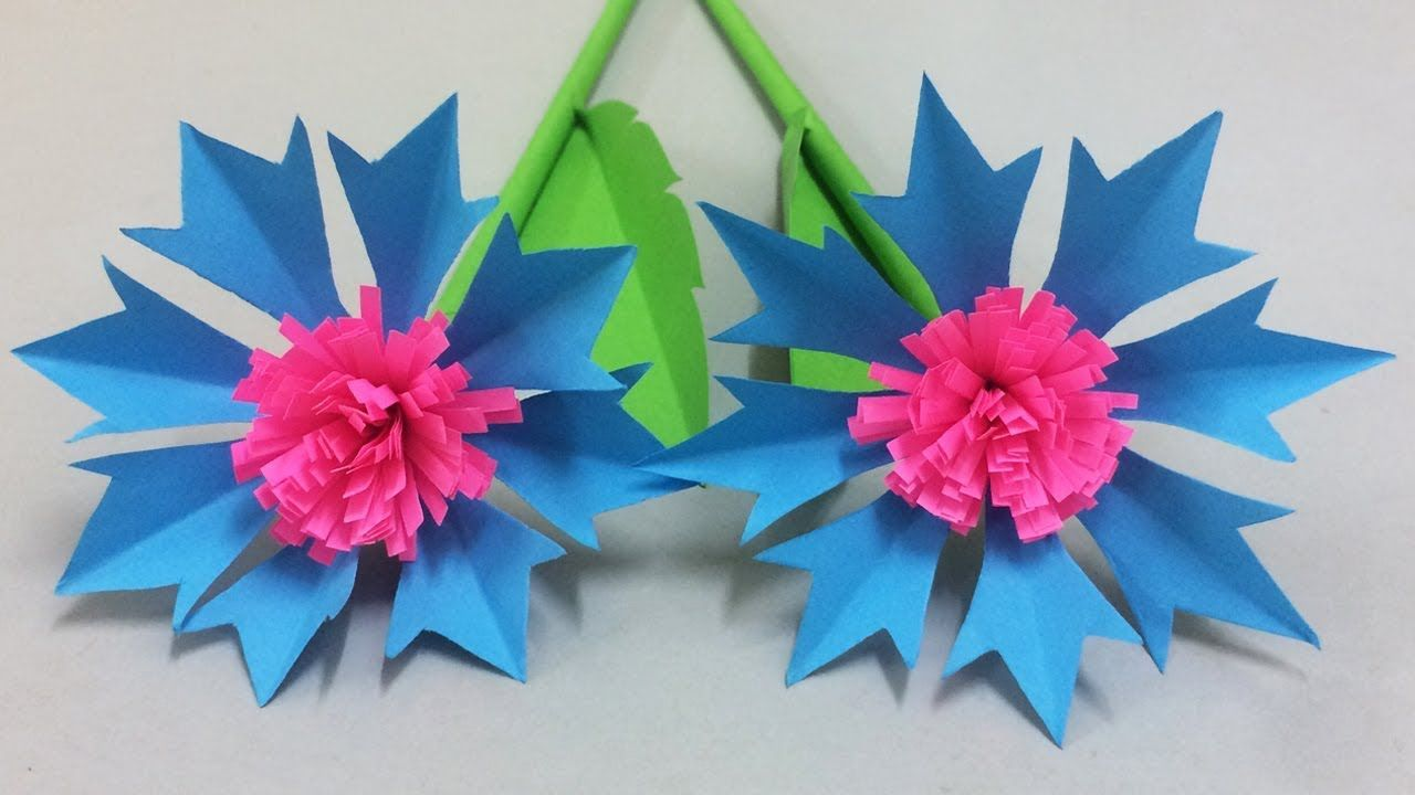 How To Make Beautiful Paper Flower Easy Paper Flowers For