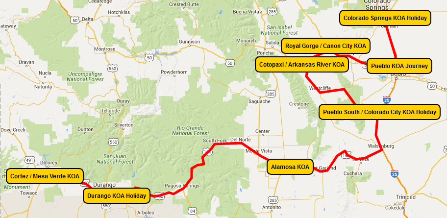 rocky mountain road trip map