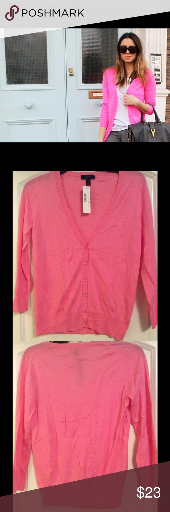 J. Crew Lightweight Spring Cardigan Size S NWT   Pink, Sweater ...