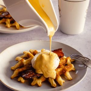 Deceptively simple mock hollandaise sauce - Total Feasts   - SAVOURY Condiments & sauces - #condiments #Deceptively #Feasts #Hollandaise #Mock #Sauce #Sauces #SAVOURY #simple #Total #hollandaisesauce
