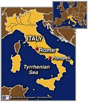 Where Is Pompeii On A Map Of Italy.Map Of Italy Showing Pompeii History Past Aviano Italy Italy