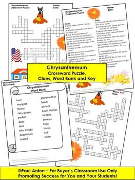 Chrysanthemum Activities for the First Day of School Crossword Puzzle. Chrysanthemum BookCrossword PuzzlesChrysanthemumsVocabularyBack ...  sc 1 st  Pinterest & Chrysanthemum Activities for the First Day of School Crossword ... 25forcollege.com