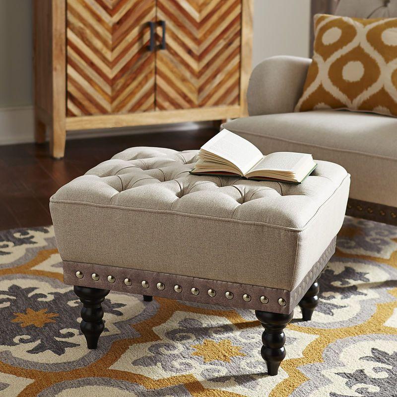 Chas Ottoman Ottoman Extra Seating Farmhouse Table Chairs #ottoman #seating #living #room