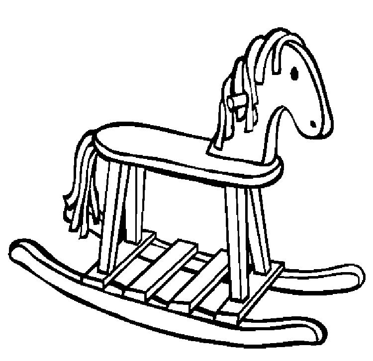Rocking Horse Coloring Pages Printable Http Prinzewilson Com